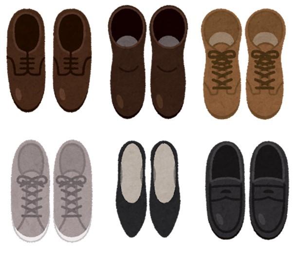 様々な種類の革靴の図